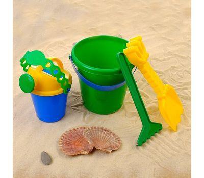 Набор для игры в песке (ведро, 6 формочек, совок, грабли, лейка), фото 3