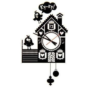 Часы - наклейка на стену, фото 1