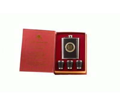 Подарочный набор в виде книги (фляжка, 3 рюмки), фото 2