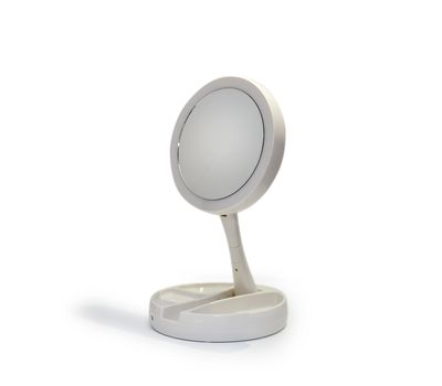 Двойное косметическое зеркало с Led подсветкой, фото 4