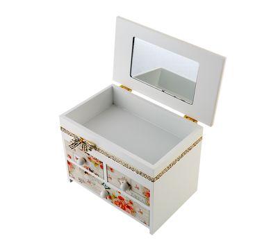 Декоративный комод для бижутерии с зеркальцем 4 секции, фото 2