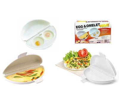 Форма 2 в 1 для приготовления омлета и глазуньи в микроволновке Egg and Omelet wave, фото 1