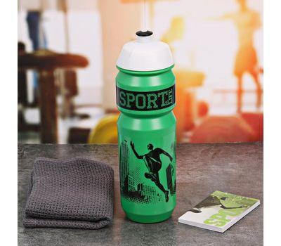 Полезный набор для фитнеса (бутылка для воды, полотенце, блокнот), фото 4