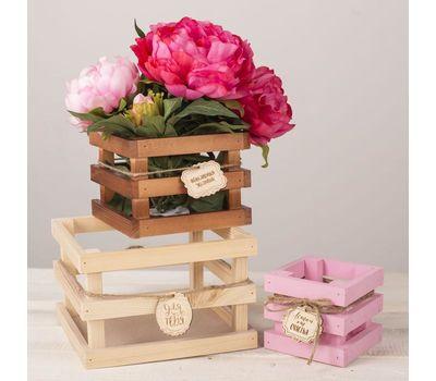 Набор из 3-х деревянных ящиков для цветов «Летай от счастья», фото 2
