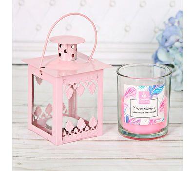 Набор ароматизированной свечи с подсвечником фонарик, фото 4