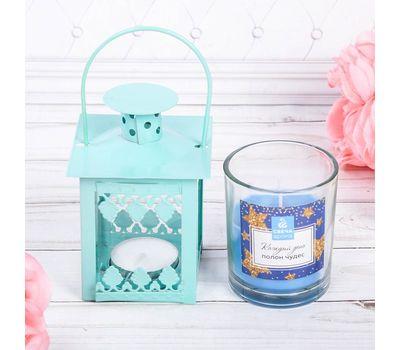 Набор ароматизированной свечи с подсвечником фонарик, фото 6