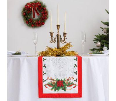 """Дорожка на стол """"Рождественский балл"""" размер 40 х 147 см, фото 1"""