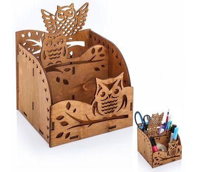 Органайзер для канцелярии деревянный, фото 3