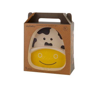 Набор детской посуды из бамбука «Bamboo Kids Set», фото 3