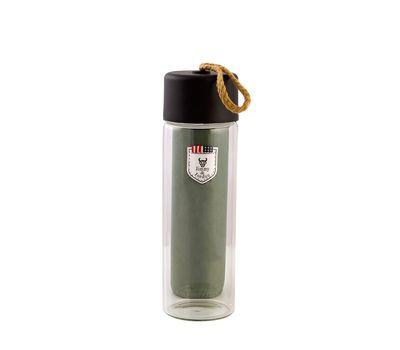 Стеклянная бутылка для воды в чехле, фото 3