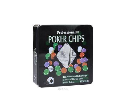 Набор для покера на 100 фишек, фото 1