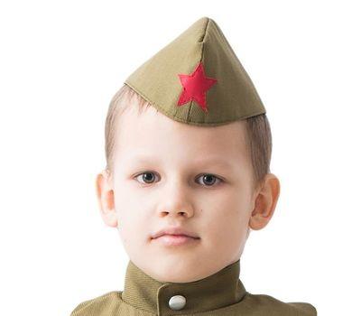 Пилотка солдатская военная детская для парада, фото 1