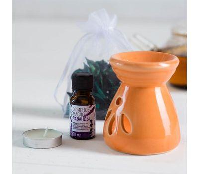 Набор «Анти-стресс»: аромасаше, арома лампа, арома масло, свеча, чай 25 г, фото 3