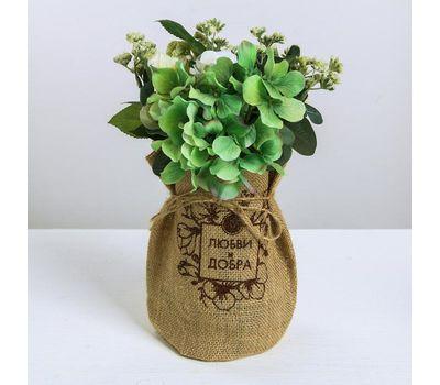 Настольная ваза в холщовом мешочке, фото 1