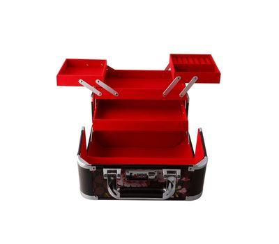 Кейс раскладной металлический для косметики и бижутерии, фото 2