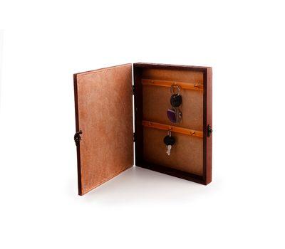Деревянная настенная ключница с рисунком, фото 2