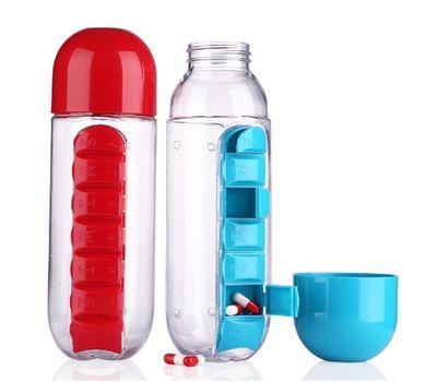 Органайзер-бутылка для таблеток и витаминов, фото 1