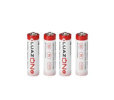 Батарейка солевая LuazON Super Heavy Duty, АА, R6, спайка, 4 шт, фото 1