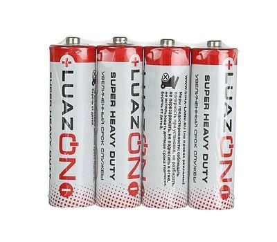 Батарейка солевая LuazON Super Heavy Duty, АА, R6, спайка, 4 шт, фото 2