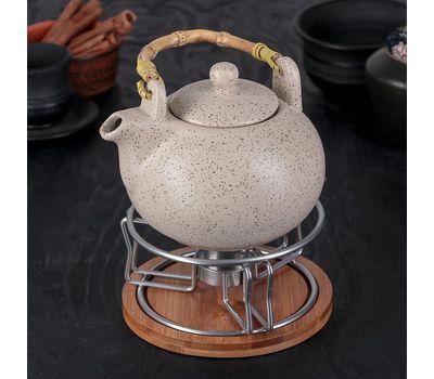 Чайник заварочный 800 мл, с подставкой для подогрева, фото 1