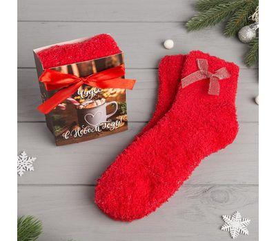 Носки женские махровые «Чудес в Новом году» в открытке, фото 4