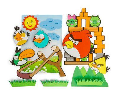 Набор декоративных наклеек в детскую комнату «Angry Birds », фото 1