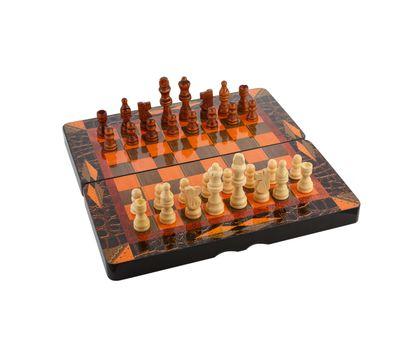 Деревянные шахматы, шашки, нарды 3 в 1, фото 2