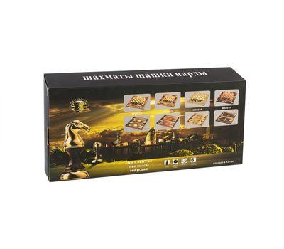 Деревянные шахматы, шашки, нарды 3 в 1, фото 1