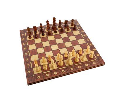 Деревянные шахматы с магнитом 3 в 1, фото 2