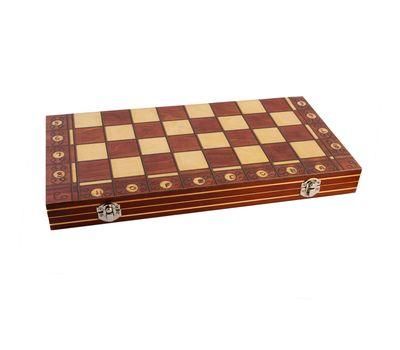 Деревянные шахматы с магнитом 3 в 1, фото 3