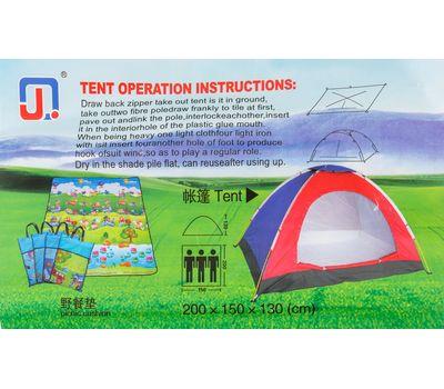 Палатка походная 3-х местная 200*150*130, фото 2