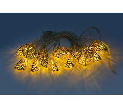 Новогодняя гирлянда свет свечения желтый, фото 3
