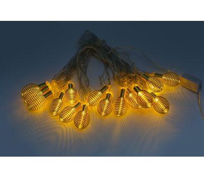 Новогодняя гирлянда свет свечения желтый, фото 4