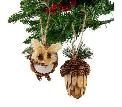 Пара новогодних елочных игрушек «Привет из леса!», фото 1