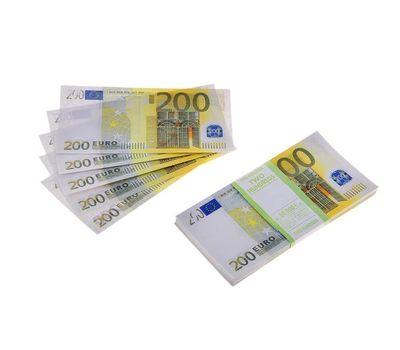 Пачка сувенирных бутафорских купюр 200 евро, фото 1