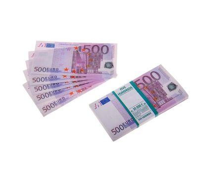 Пачка сувенирных бутафорских купюр 500 евро, фото 1