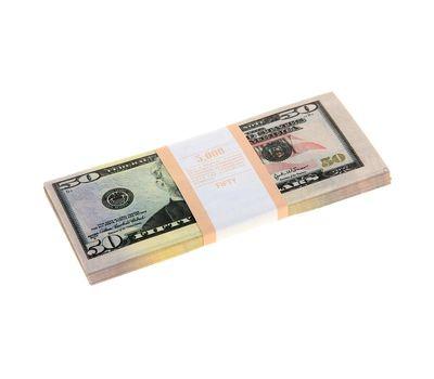 Пачка сувенирных бутафорских купюр 50 долларов, фото 1
