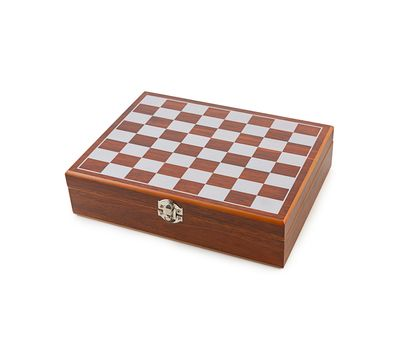 Подарочный набор «Деревянные шахматы с фляжкой и рюмками», фото 7