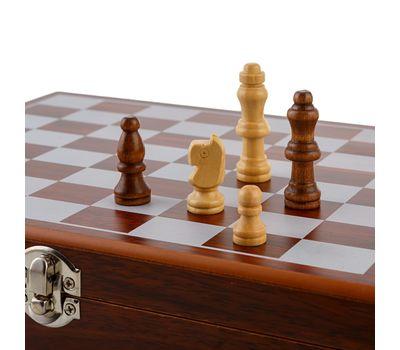 Подарочный набор «Деревянные шахматы с фляжкой и рюмками», фото 6