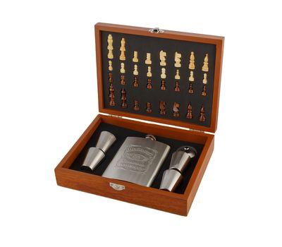 Подарочный набор «Деревянные шахматы с фляжкой и рюмками», фото 12