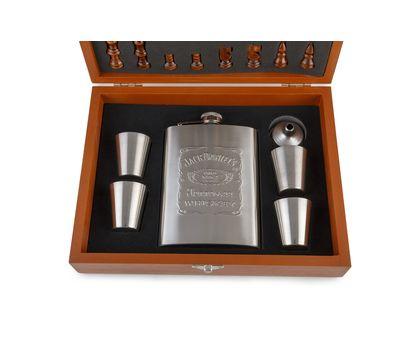 Подарочный набор «Деревянные шахматы с фляжкой и рюмками», фото 13