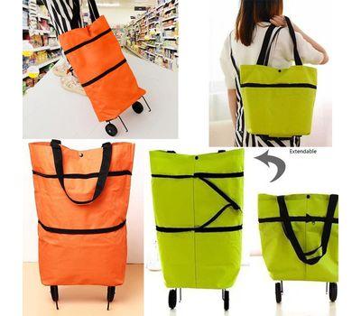 Бескаркасная хозяйственная сумка на колесиках, фото 1